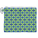 Blue Yellow Green Swirl Pattern Canvas Cosmetic Bag (XXL) View1