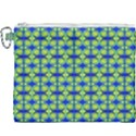 Blue Yellow Green Swirl Pattern Canvas Cosmetic Bag (XXXL) View1