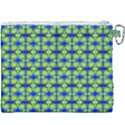 Blue Yellow Green Swirl Pattern Canvas Cosmetic Bag (XXXL) View2