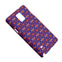 Blue Orange Yellow Swirl Pattern Samsung Galaxy Note 4 Hardshell Case View5