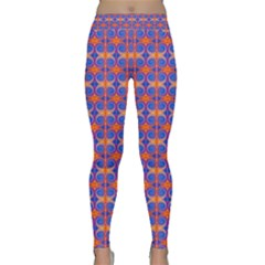 Blue Orange Yellow Swirl Pattern Classic Yoga Leggings