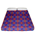 Blue Orange Yellow Swirl Pattern Fitted Sheet (Queen Size) View1