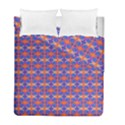Blue Orange Yellow Swirl Pattern Duvet Cover Double Side (Full/ Double Size) View1