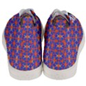 Blue Orange Yellow Swirl Pattern Men s Mid-Top Canvas Sneakers View4
