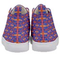 Blue Orange Yellow Swirl Pattern Kid s Mid-Top Canvas Sneakers View4