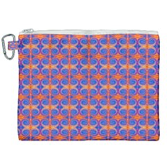 Blue Orange Yellow Swirl Pattern Canvas Cosmetic Bag (xxl)