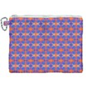 Blue Orange Yellow Swirl Pattern Canvas Cosmetic Bag (XXL) View1