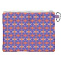Blue Orange Yellow Swirl Pattern Canvas Cosmetic Bag (XXL) View2