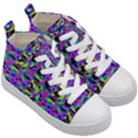 Geometric Kid s Mid-Top Canvas Sneakers View3