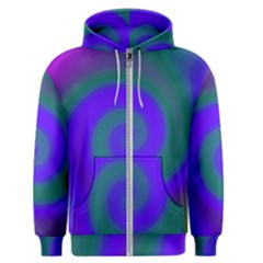 Swirl Green Blue Abstract Men s Zipper Hoodie