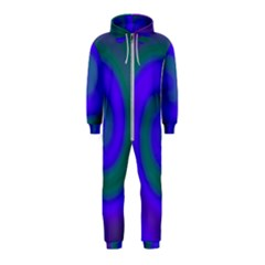 Swirl Green Blue Abstract Hooded Jumpsuit (kids)