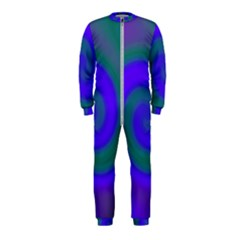 Swirl Green Blue Abstract Onepiece Jumpsuit (kids)