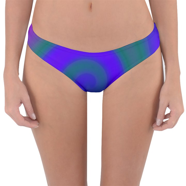Swirl Green Blue Abstract Reversible Hipster Bikini Bottoms
