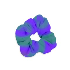 Swirl Green Blue Abstract Velvet Scrunchie by BrightVibesDesign