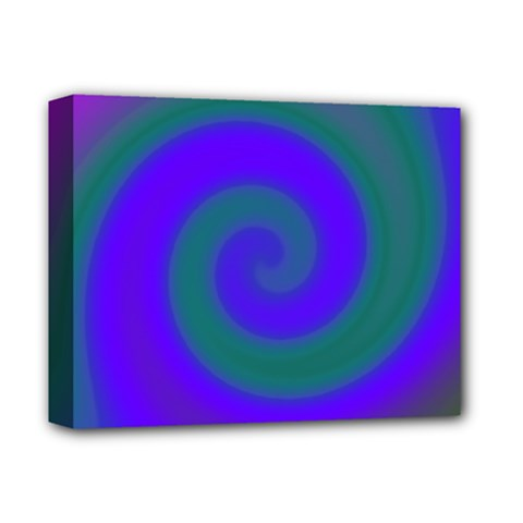 Swirl Green Blue Abstract Deluxe Canvas 14  X 11