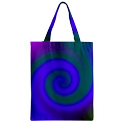 Swirl Green Blue Abstract Zipper Classic Tote Bag