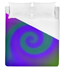 Swirl Green Blue Abstract Duvet Cover (queen Size) by BrightVibesDesign