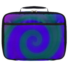 Swirl Green Blue Abstract Full Print Lunch Bag by BrightVibesDesign