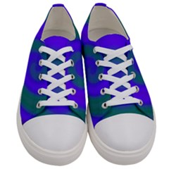 Swirl Green Blue Abstract Women s Low Top Canvas Sneakers