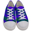 Swirl Green Blue Abstract Women s Low Top Canvas Sneakers View1