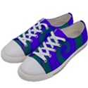 Swirl Green Blue Abstract Women s Low Top Canvas Sneakers View2