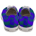 Swirl Green Blue Abstract Women s Low Top Canvas Sneakers View4
