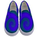 Swirl Green Blue Abstract Kids  Canvas Slip Ons View1