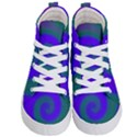 Swirl Green Blue Abstract Kid s Hi-Top Skate Sneakers View1