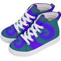 Swirl Green Blue Abstract Kid s Hi-Top Skate Sneakers View2