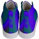 Swirl Green Blue Abstract Kid s Hi-Top Skate Sneakers View4