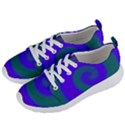 Swirl Green Blue Abstract Women s Lightweight Sports Shoes View2