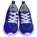 Swirl Green Blue Abstract Kids  Lightweight Sports Shoes View1