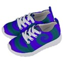 Swirl Green Blue Abstract Kids  Lightweight Sports Shoes View2