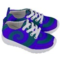 Swirl Green Blue Abstract Kids  Lightweight Sports Shoes View3