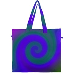 Swirl Green Blue Abstract Canvas Travel Bag by BrightVibesDesign