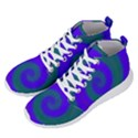 Swirl Green Blue Abstract Men s Lightweight High Top Sneakers View2