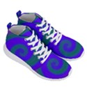 Swirl Green Blue Abstract Men s Lightweight High Top Sneakers View3