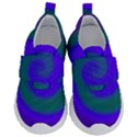 Swirl Green Blue Abstract Velcro Strap Shoes View1