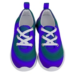 Swirl Green Blue Abstract Running Shoes
