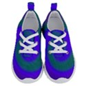 Swirl Green Blue Abstract Running Shoes View1