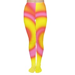 Swirl Yellow Pink Abstract Women s Tights by BrightVibesDesign