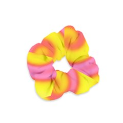 Swirl Yellow Pink Abstract Velvet Scrunchie