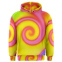 Swirl Yellow Pink Abstract Men s Overhead Hoodie View1