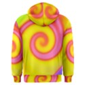 Swirl Yellow Pink Abstract Men s Overhead Hoodie View2