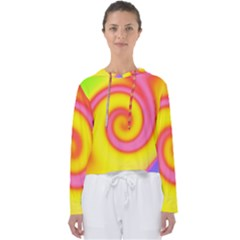 Swirl Yellow Pink Abstract Women s Slouchy Sweat