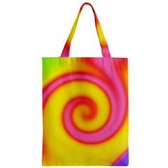 Swirl Yellow Pink Abstract Zipper Classic Tote Bag