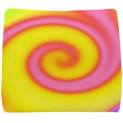 Swirl Yellow Pink Abstract Seat Cushion