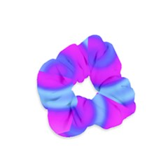 Swirl Pink Turquoise Abstract Velvet Scrunchie by BrightVibesDesign