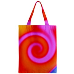 Swirl Orange Pink Abstract Zipper Classic Tote Bag