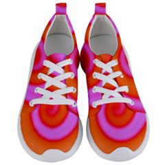 Swirl Orange Pink Abstract Women s Lightweight Sports Shoes